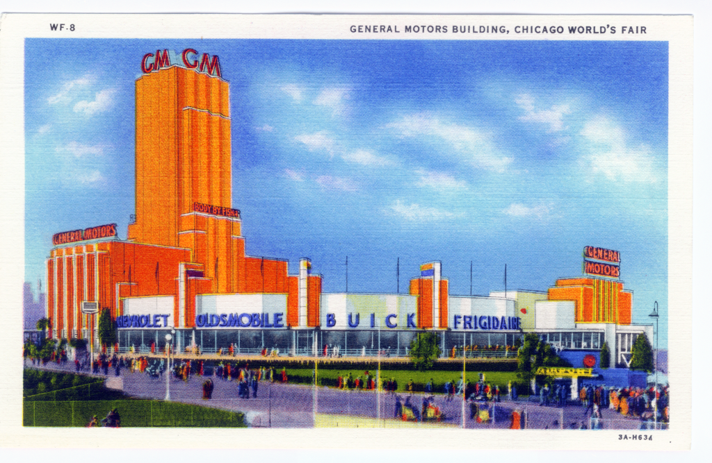 Chicago Postcard Museum A Century Of Progress Color And Linen Postcards