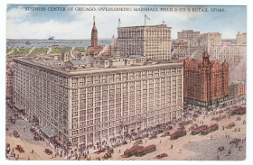 Chicago Postcard Museum Marshall Field And Company In