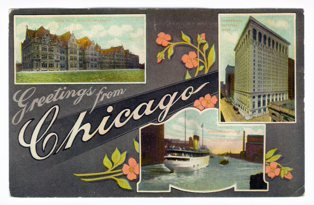 Chicago postcard museum greetings from chicago lobby greetings from chicago 507 m4hsunfo