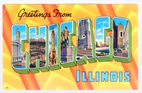 Chicago postcard museum greetings from chicago lobby greetings from chicago illinois 12 cameo greeting cards inc chicago pm 1962 m4hsunfo